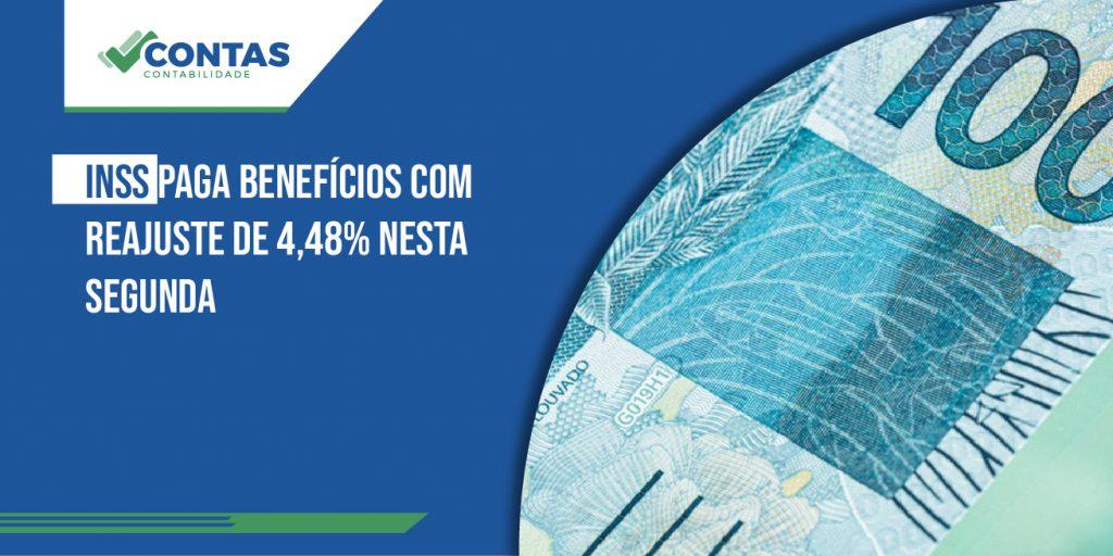 INSS paga benefícios com reajuste de 4,48% nesta segunda