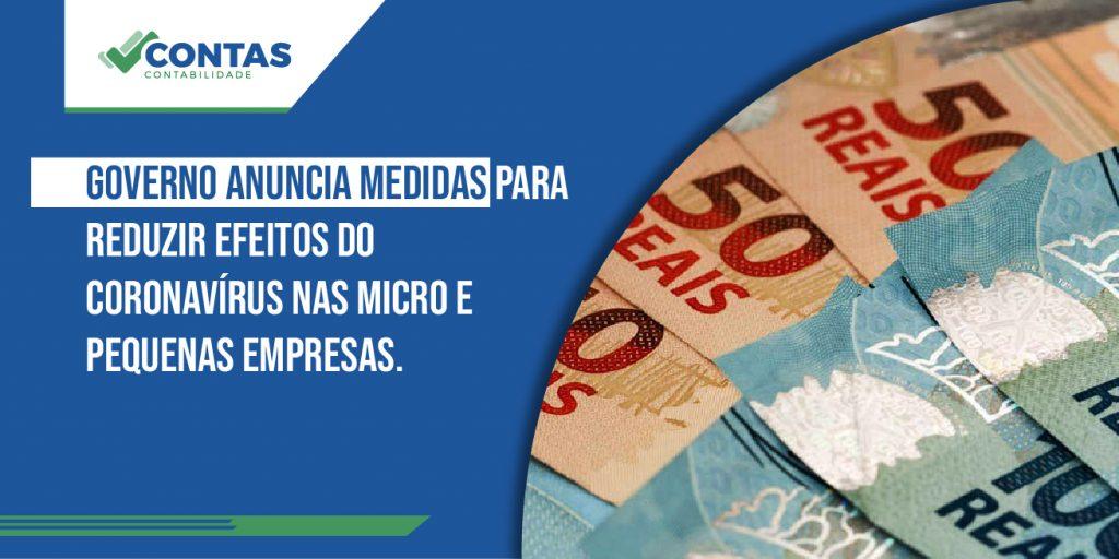 Governo anuncia medidas para reduzir efeitos do coronavírus nas micro e pequenas empresas.